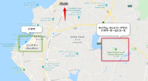 サイアム・カントリークラブ・パタヤ・オールドコースの地図